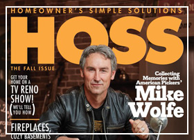 Mike Wolfe on the cover of Hoss Magazine